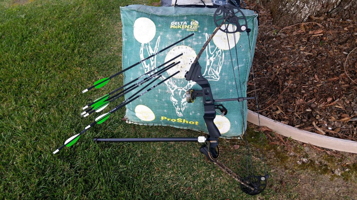 Archery Target Shooting With My Mission Compound Bow